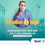 Minicursos de Enfermagem acontecem virtualmente de 22 a 31 julho